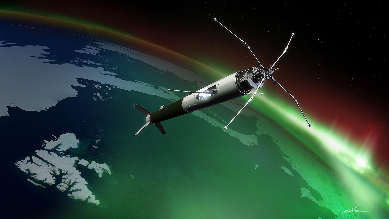 UiO-raketten ICI-3 ble skutt opp fra Svalbard i desember 2011.