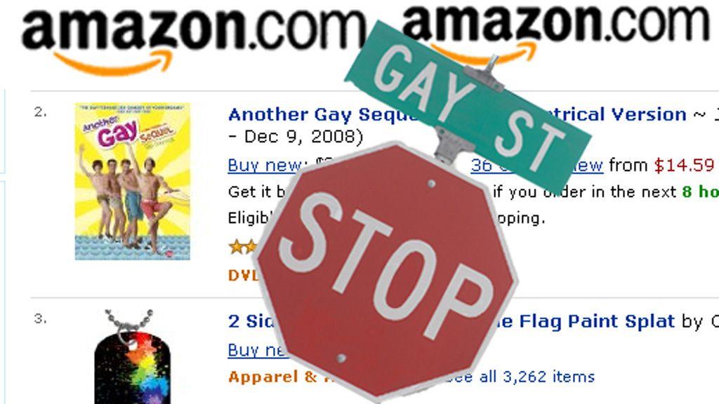 Amazon fjernet homofil litteratur