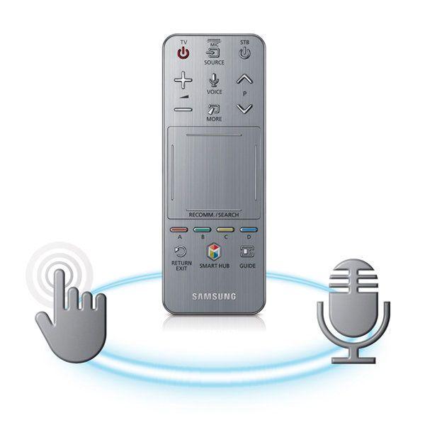 Smart Touch-fjernkontrollen har innebygd mikrofon.Foto: Samsung