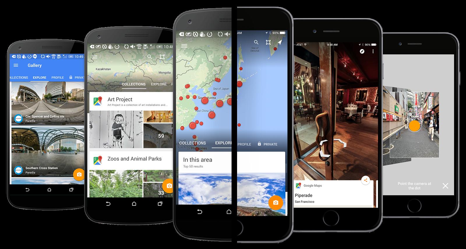 Den mobile Street View-appen ble sluppet i forrige måned og har nå fått støtte for VR-brillene Cardboard. Foto: Google