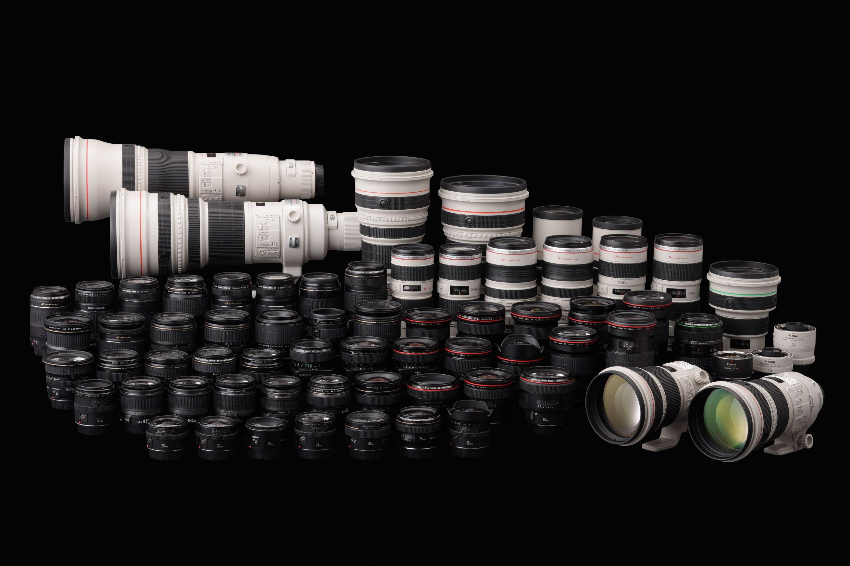 Canons objektivkolleksjon anno 2008