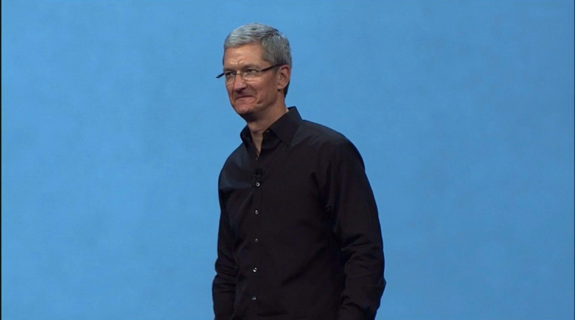 Tim Cook åpner showet.Foto: Apple
