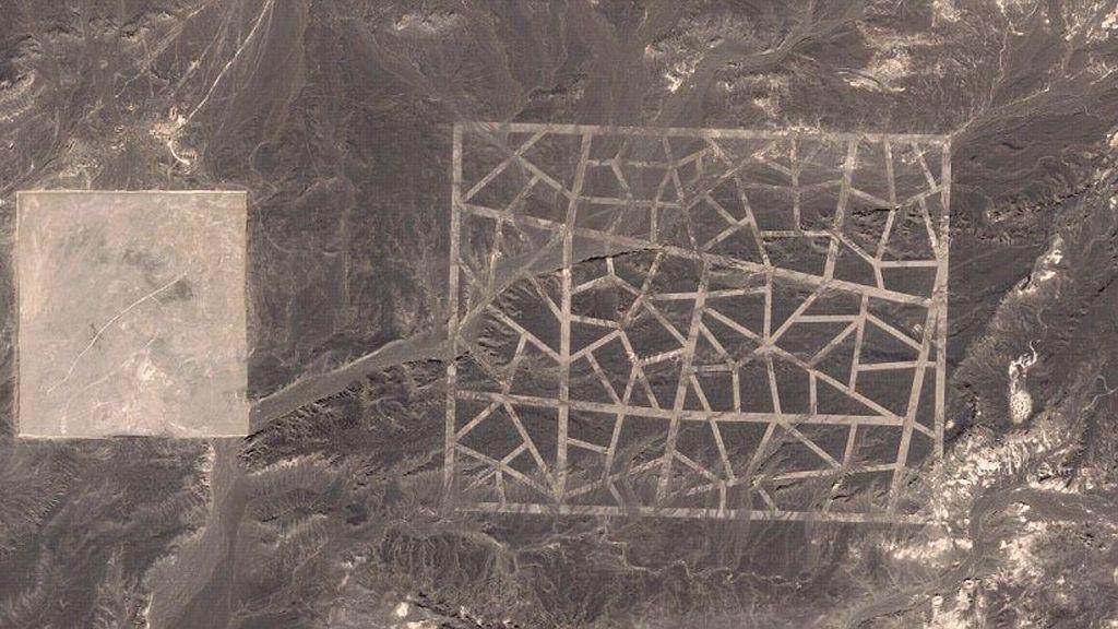 MYSTERIUM: Mønstrene satte i gang en rekke konspirasjonsteorier. En av de mest populære var at mønsteret var en beskjed til utenomjordiske vesener.Foto: Skjermdump, Google Maps