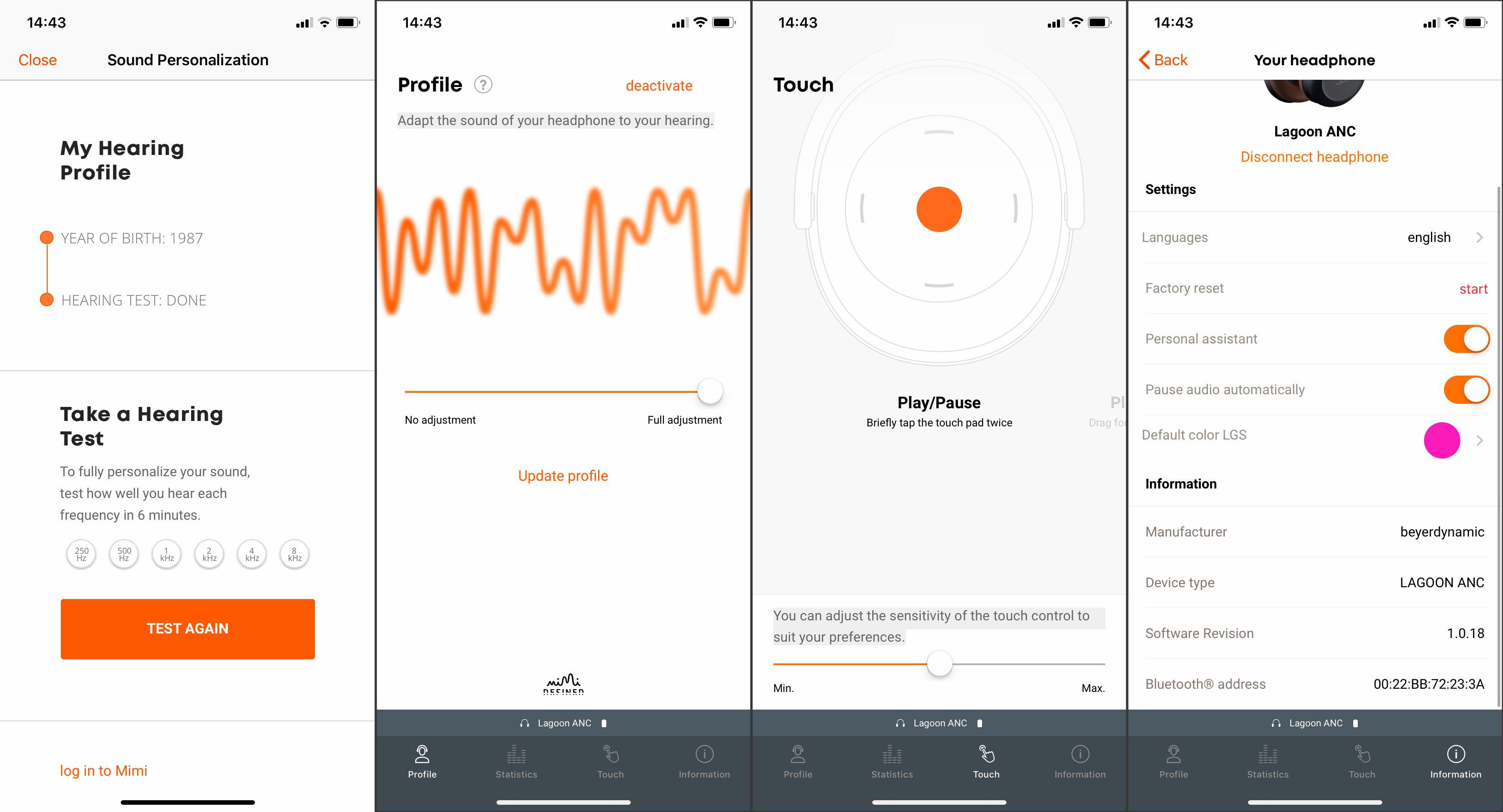 Beyerdynamic-appens viktigste funksjon er å åpne for personalisering av lyden, en funksjon som gjør veldig gode ting, etter vår erfaring.