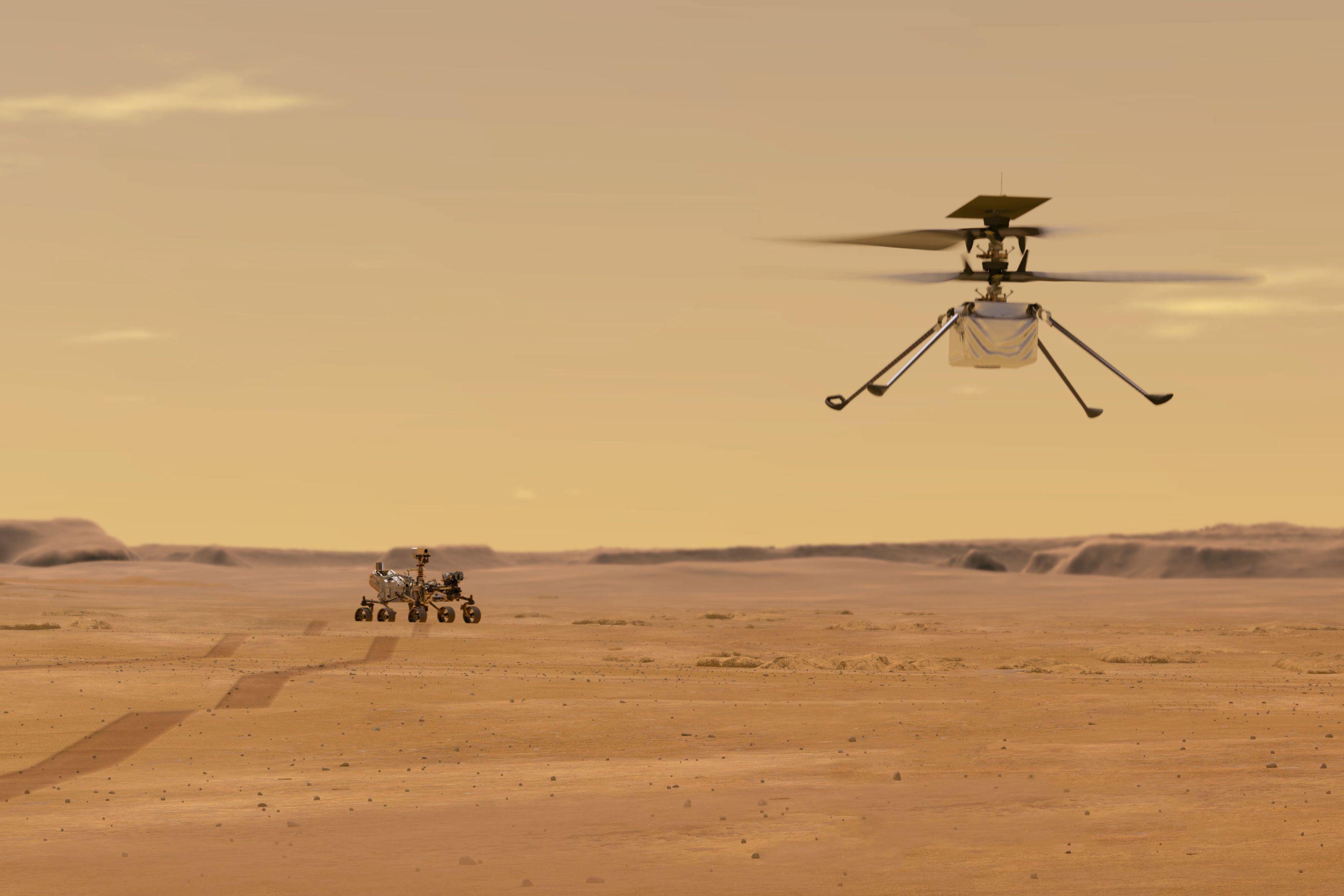 Ingenuity-helikopteret blir styrt av en nordmann og er verdens første romhelikopter.