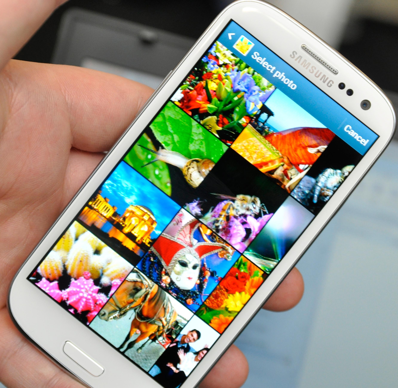 Skjermen er det aller største trekkplasteret på Galaxy S III. Den er sylskarp og fantastisk fargegjengivelse.