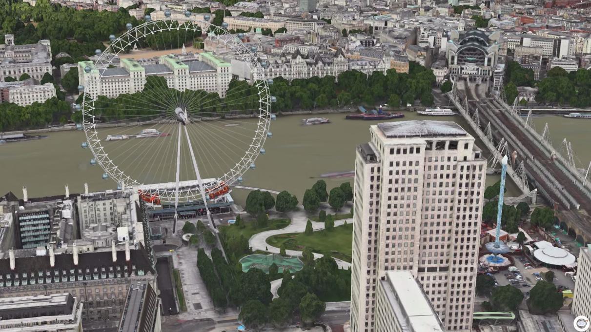 Apples karttjeneste lar deg nå se Londons pariserhjul i bevegelse