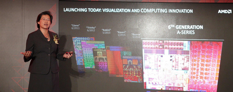 AMD-sjef Lisa Su introduserte Carrizo. Foto: Vegar Jansen, Tek.no