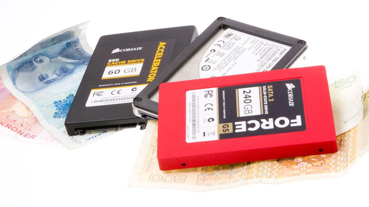 Så mye har SSD-ene rast i pris