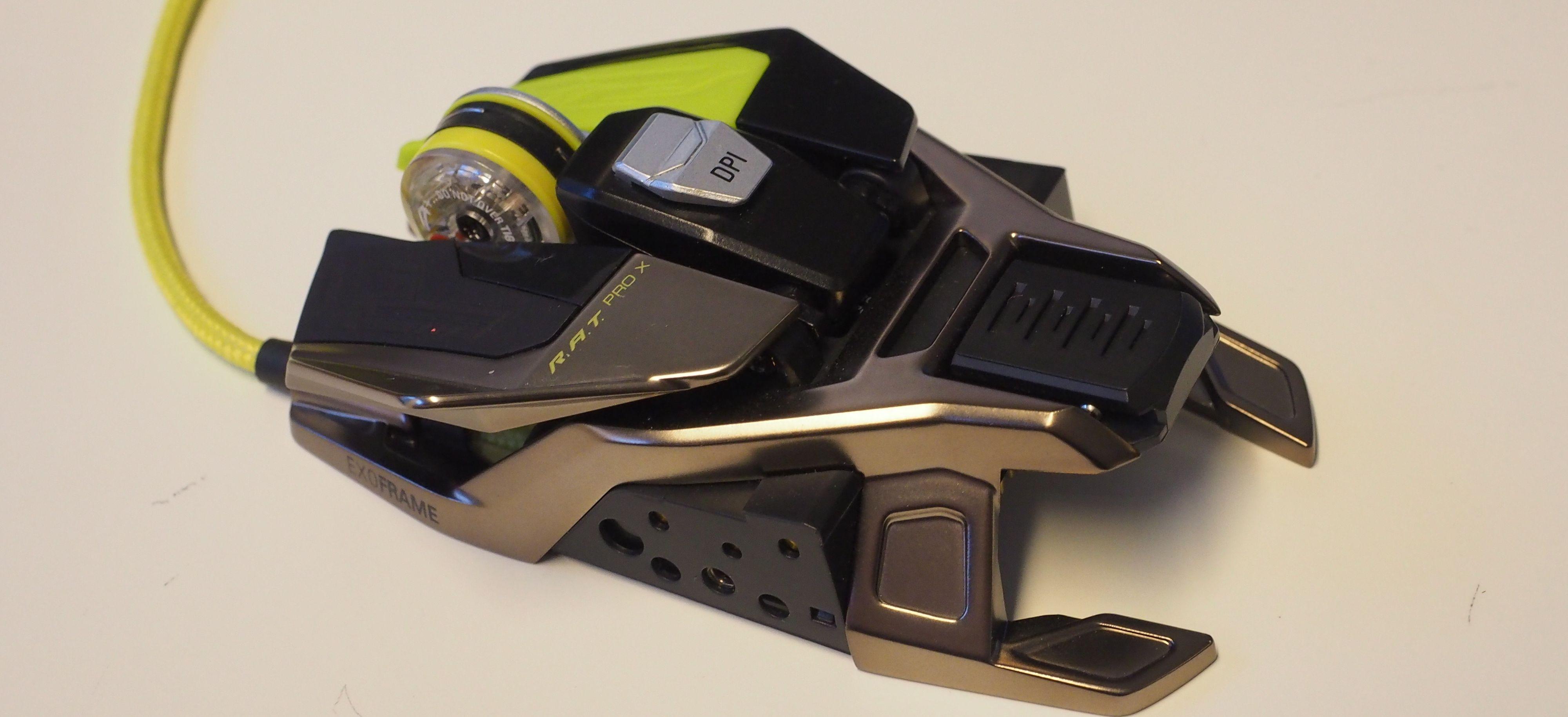 Rammen på R.A.T. Pro X er laget av magnesium.
