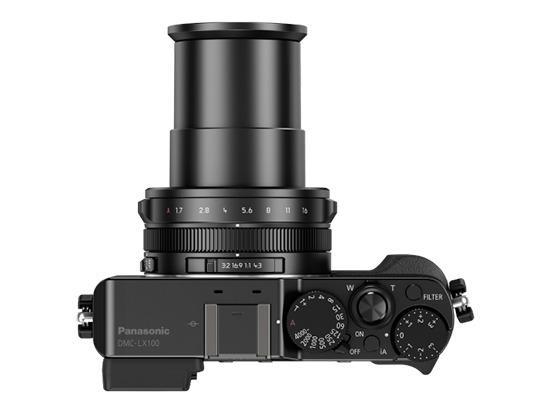 Panasonic LX100 sitt objektiv. Foto: Panasonic