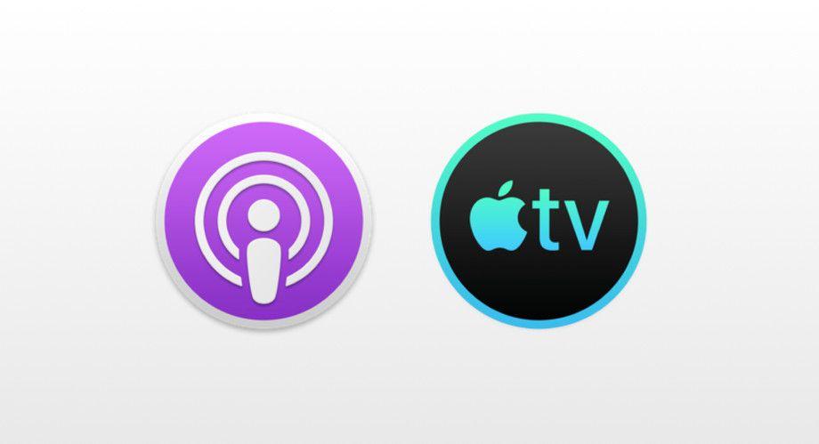 De angivelig nye ikonene til Podkast- og TV-appen for MacOS.
