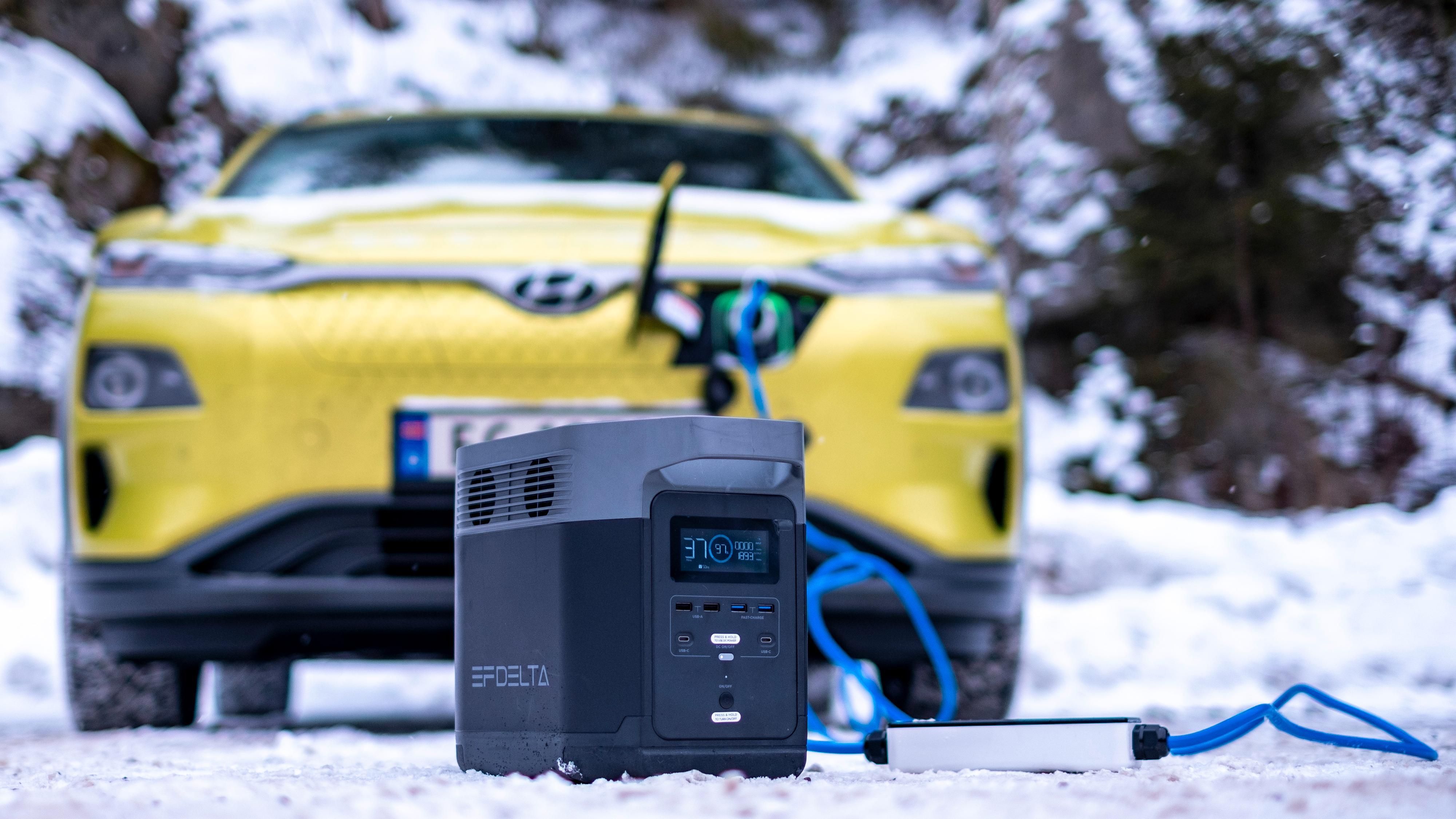 Delta 1300 skal kunne gi opptil 8 kilometer ekstra rekkevidde på en elbil. Det er ikke det typiske bruksområdet for batteriet, men såpass tett som det er mellom ladestasjonene i Norge kan en slik batteripakke i bagasjerommet være det som skal til for at en helt tom bil kommer seg de siste meterne til en reddende (hurtig)lader.
