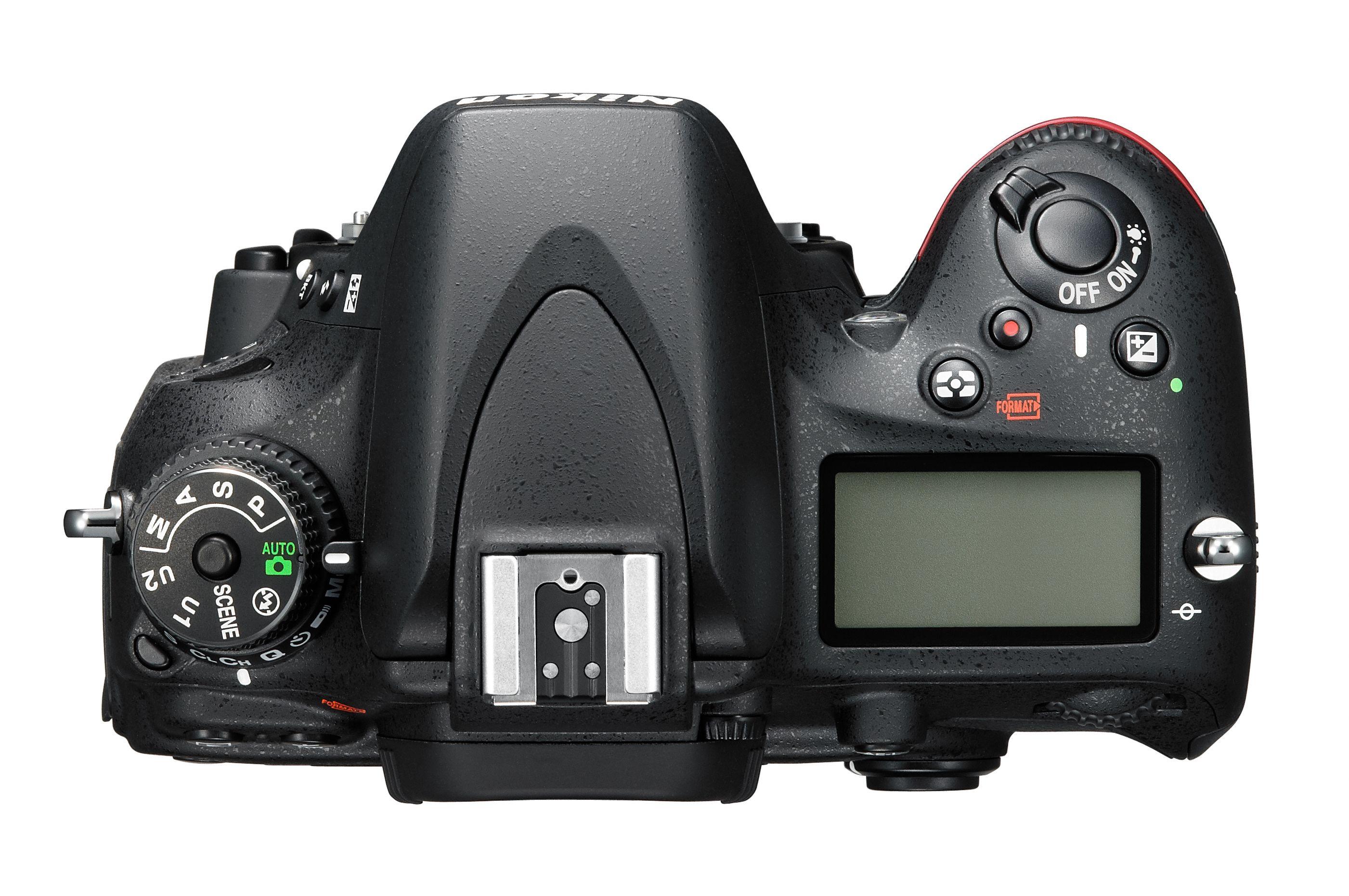 Toppen av D600.Foto: Nikon