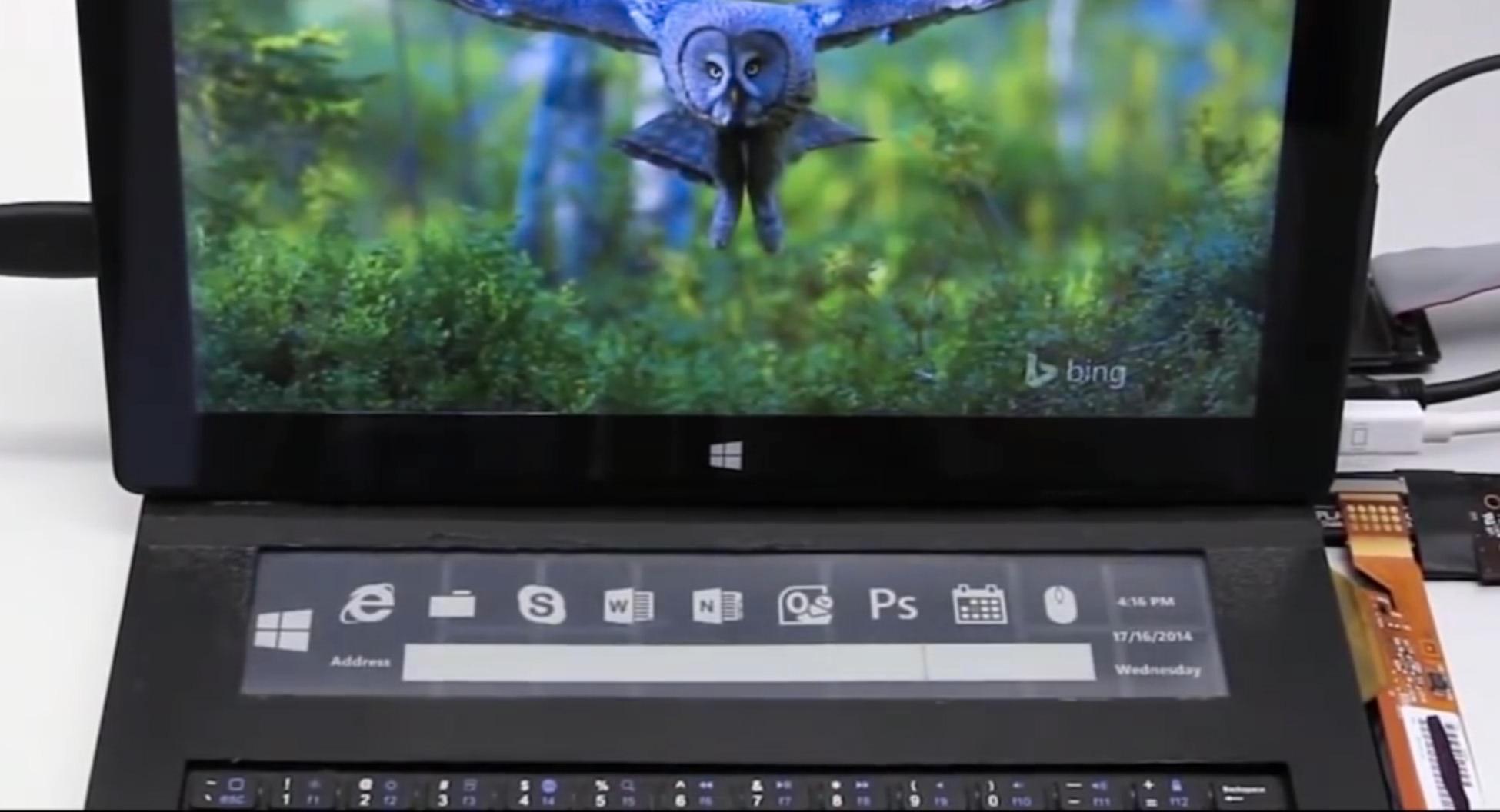 Microsoft utvikler tastatur med e-papirskjerm