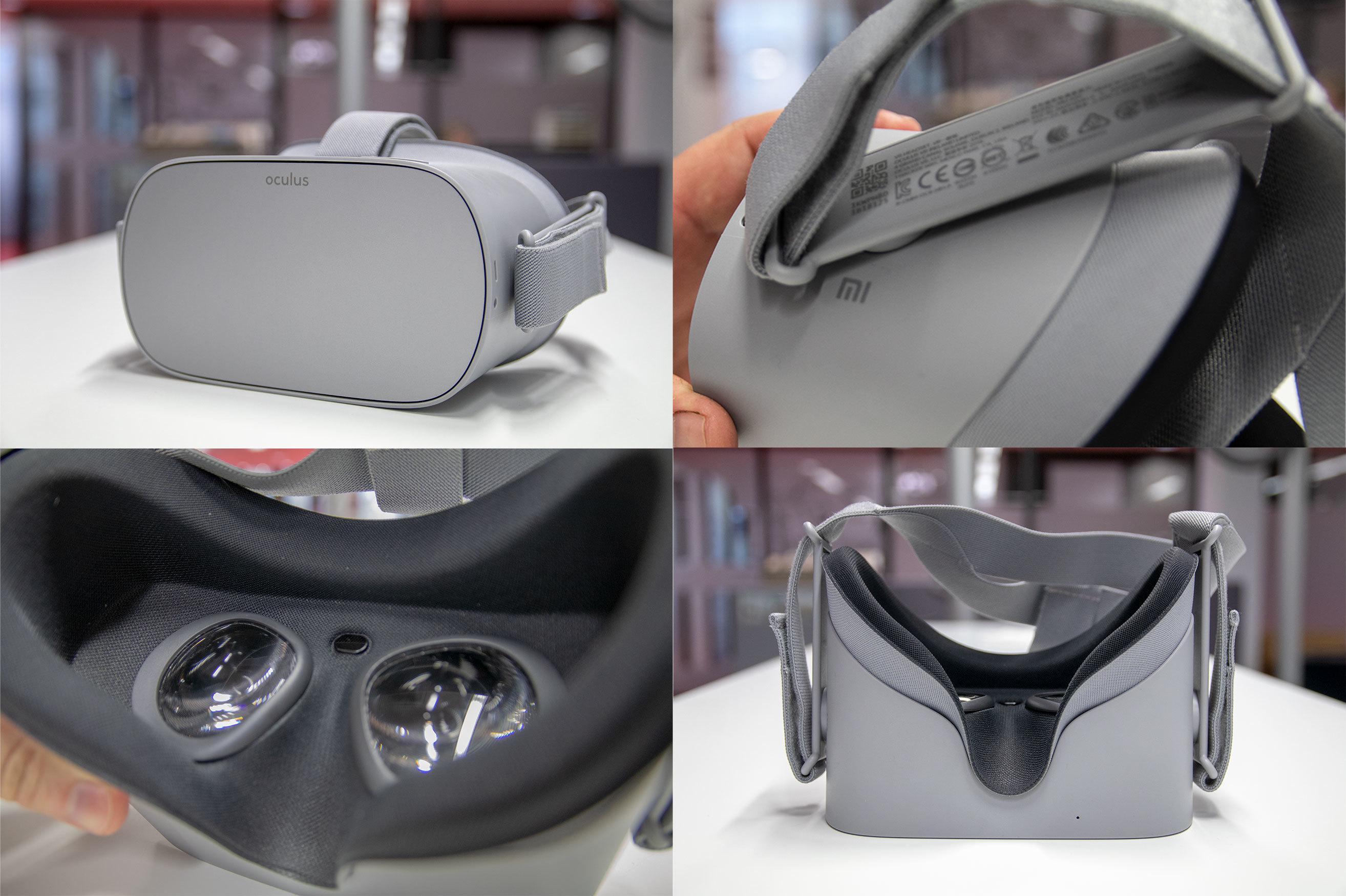 Selv om det går mest i plast, føles Oculus Go velbygd og solid ut.
