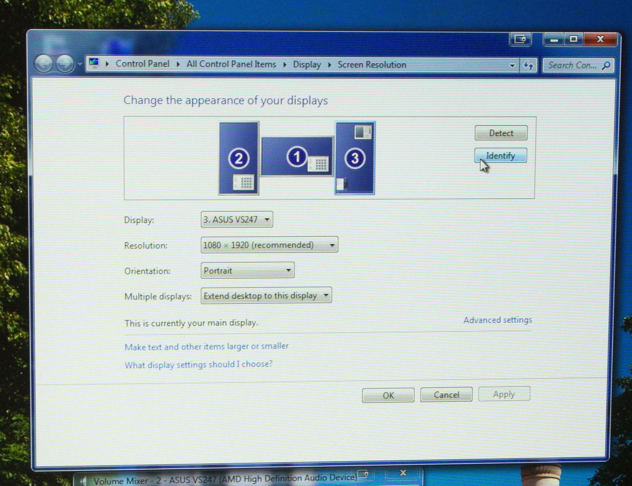 Hver skjerm kommer opp, uten drivere.Foto: Rolf B. Wegner, Hardware.no