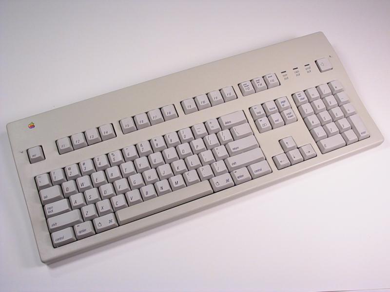 Slik så Apple Extended Keyboard ut i 1987. Foto: CC BY-SA 3.0