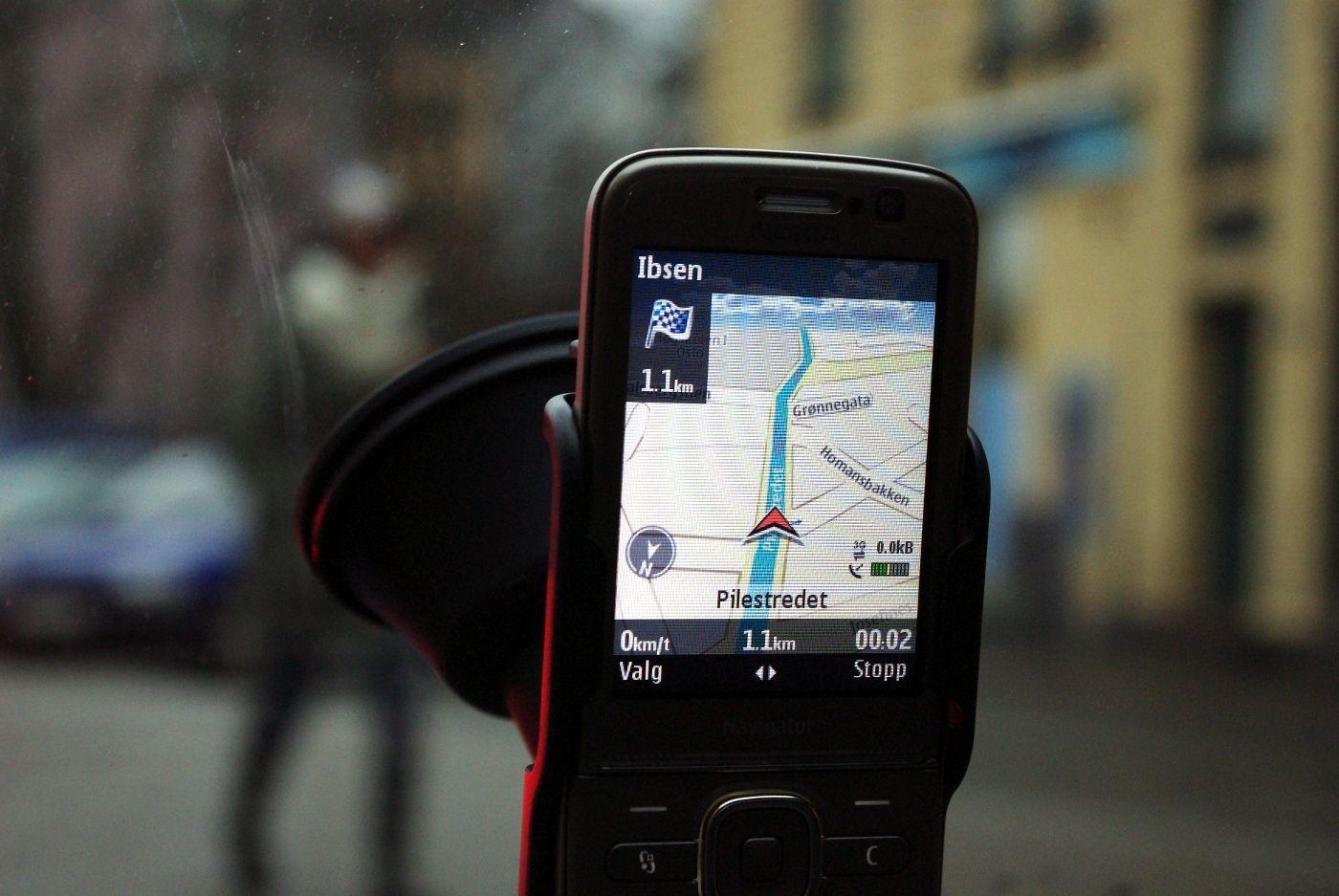 GPS i mobilen gir litt dårligere oversikt og færre funksjoner, men du finner som regel fram.