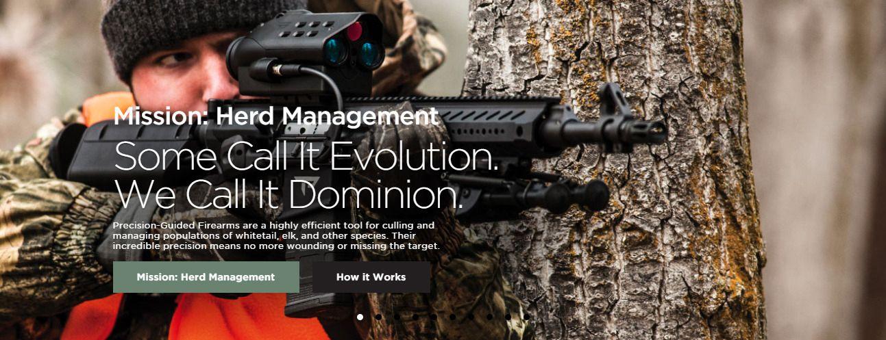 Slik promoteres våpenet. Foto: TrackingPoint