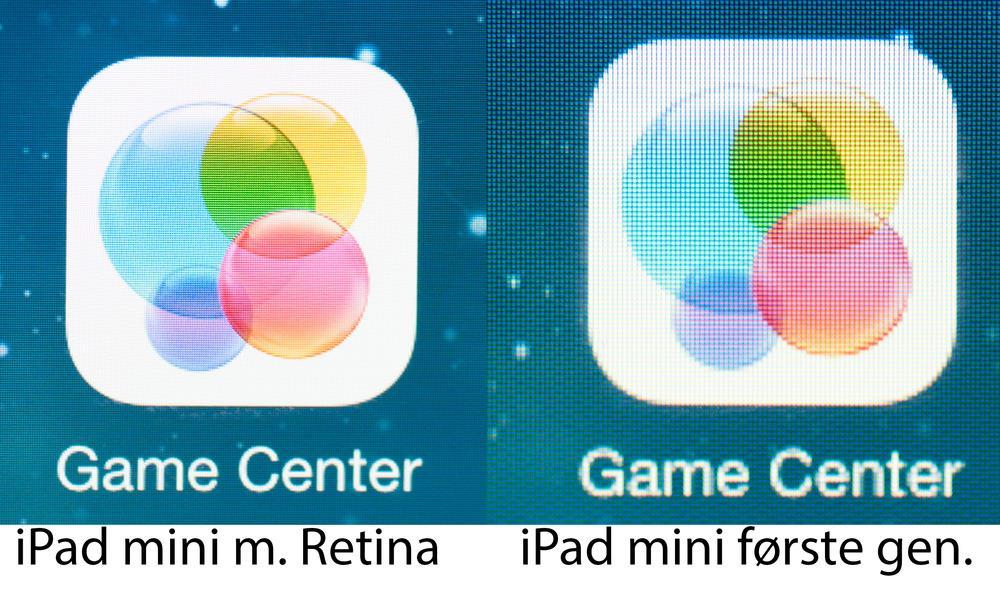 Det er ikke bare Android-produsentene som har pumpet opp pikseltettheten i år - også Apple har skrudd opp oppløsningen i sin nye iPad Mini Retina.Foto: Finn Jarle Kvalheim, Amobil.no