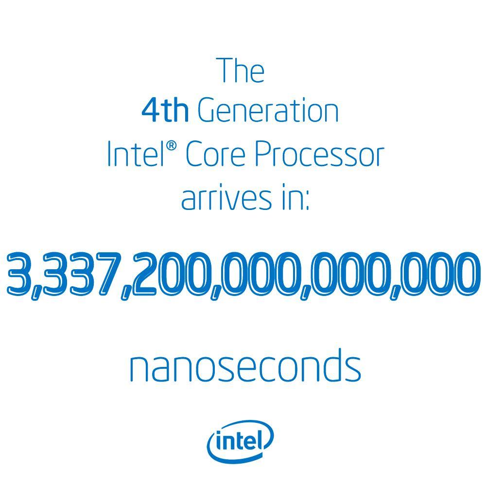 Nedtellingen er i gang. Tallet har for øvrig gått ned med rundt 6 000 000 000 innen du har rukket å lese denne bildeteksten.Foto: Intel
