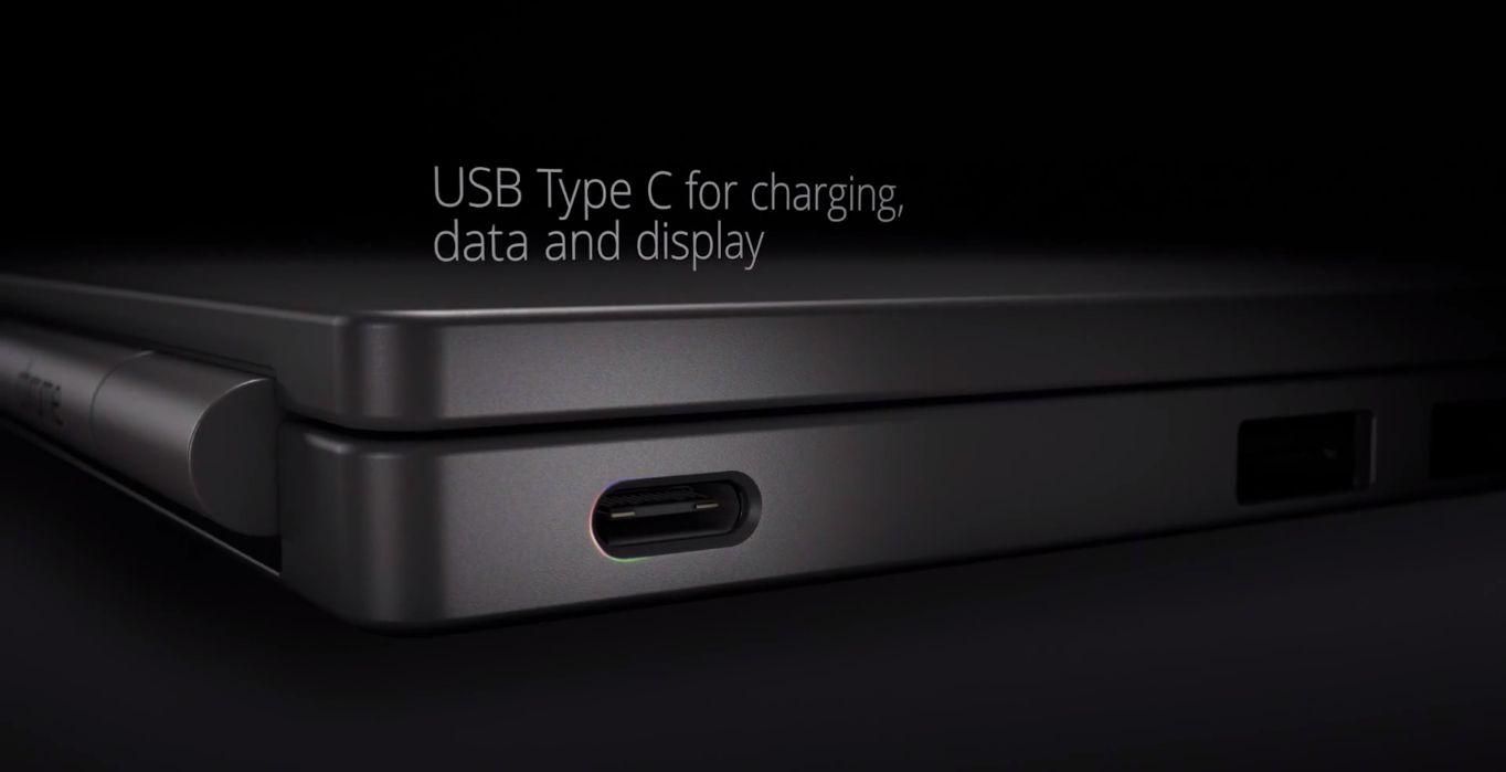 Den nye Chromebook Pixel-modellen kommer med den rykende ferske USB Type C-standarden. Foto: Google