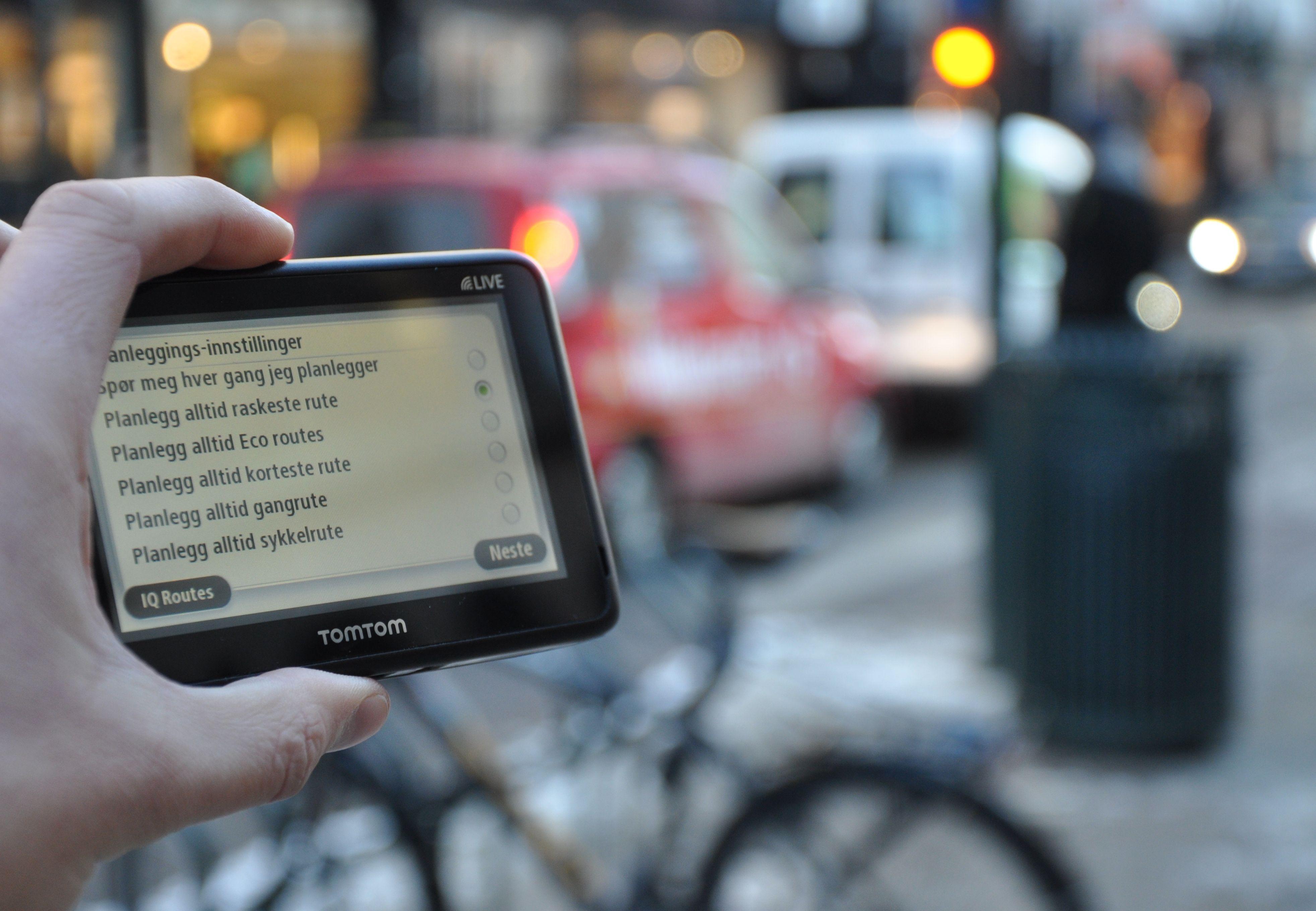 Go Live 1000 kan brukes enten du beveger deg bak rattet, til fots eller på sykkel.