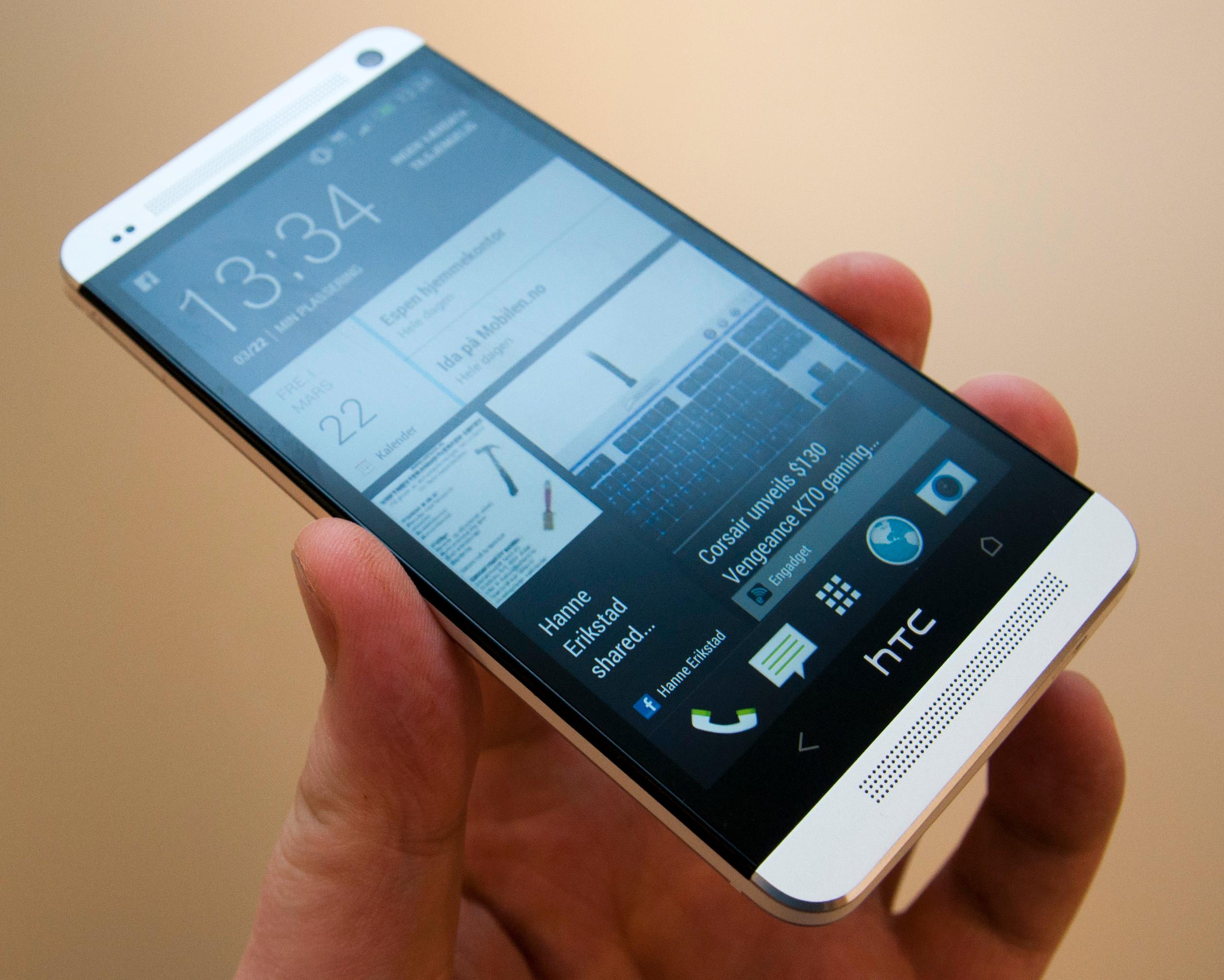 HTC One er sannsynligvis den toppmodellen i år som har hatt best design, men den innledet også en ny trend ...Foto: Espen Irwing Swang, Amobil.no