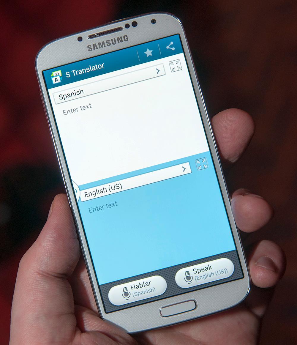 Galaxy S4 kan oversette mellom flere språk. Ingen av dem er norsk.Foto: Finn Jarle Kvalheim, Amobil.no