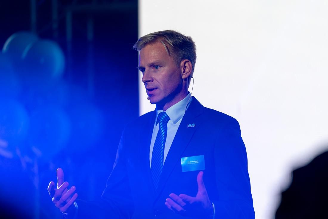 Utrolig stolt: Direktør for KLM i Norden, Paul Terstegge, sier han er veldig fornøyd med bærekraftsarbeidet selskapet foretar seg.