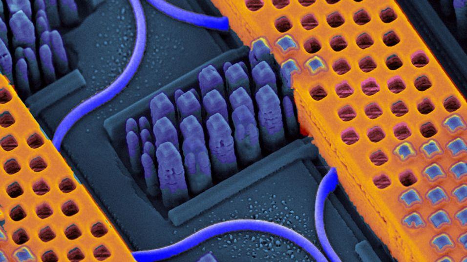 IBM har utviklet en foto-elektrisk transistor.Foto: IBM