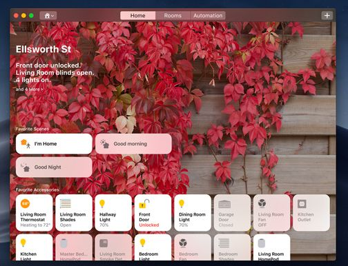 Nytt er støtte for Apples HomeKit, som gjør at du kan styre alle dine HomeKit-støttede enheter, som for eksempel Philips Hue-pærer, fra Macen.