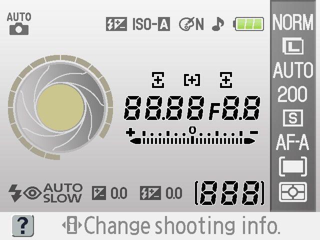 Brukervennlig display i Nikon D40