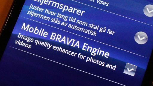 Mobile Bravia skal gi krystallklare bilder og farger, hevder Sony Ericsson. Foto: Espen Irwing Swang