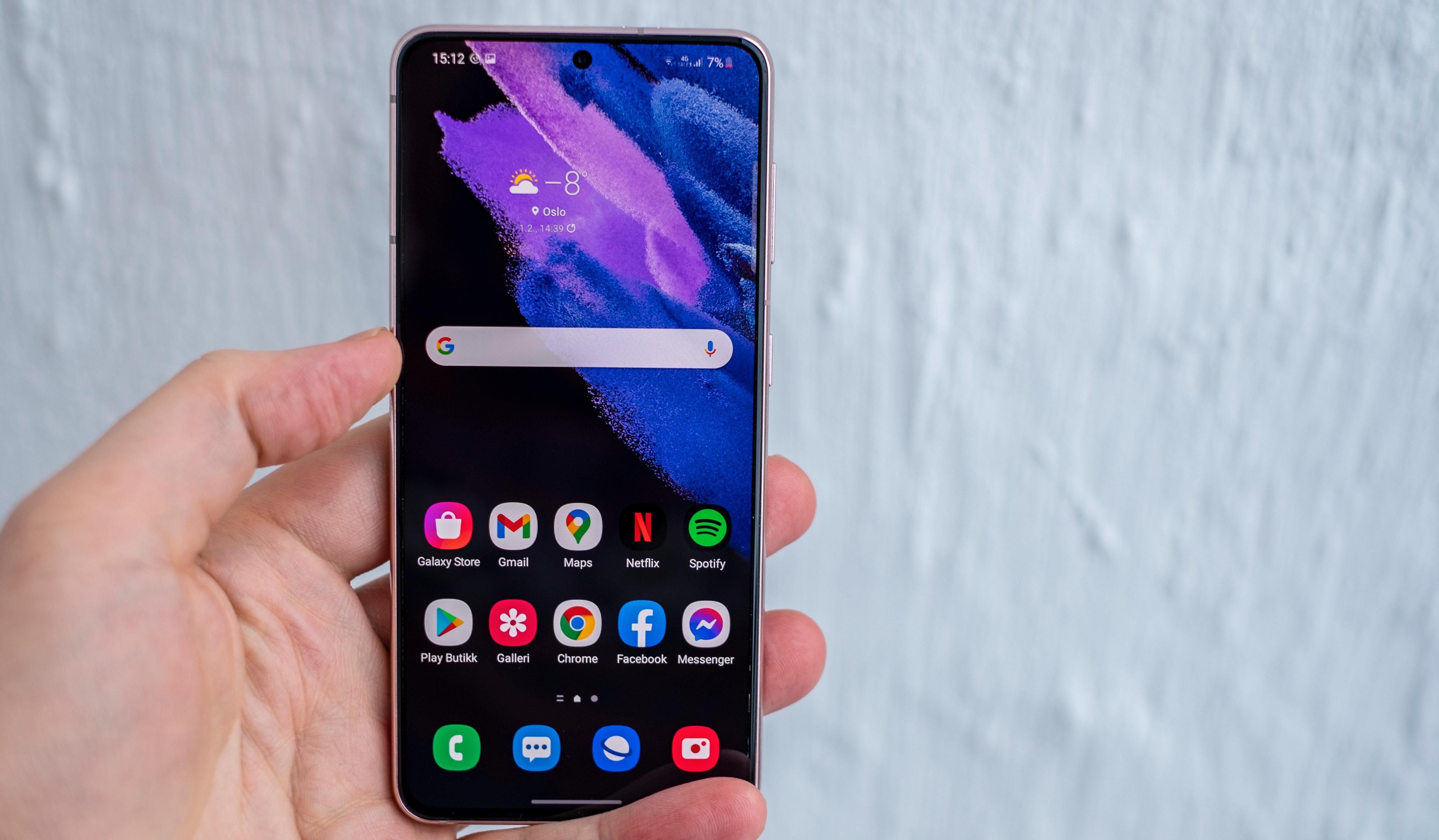 Samsung har som vanlig en av de aller beste skjermene i noen mobil du kan kjøpe.