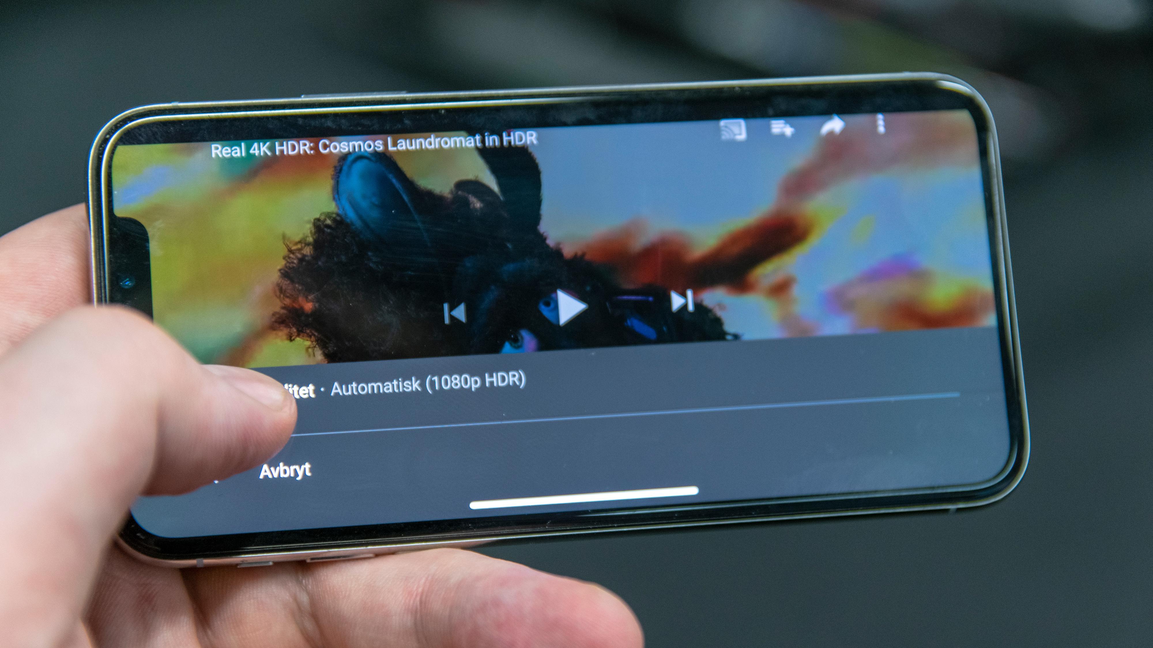 YouTube åpner for HDR på iPhone X