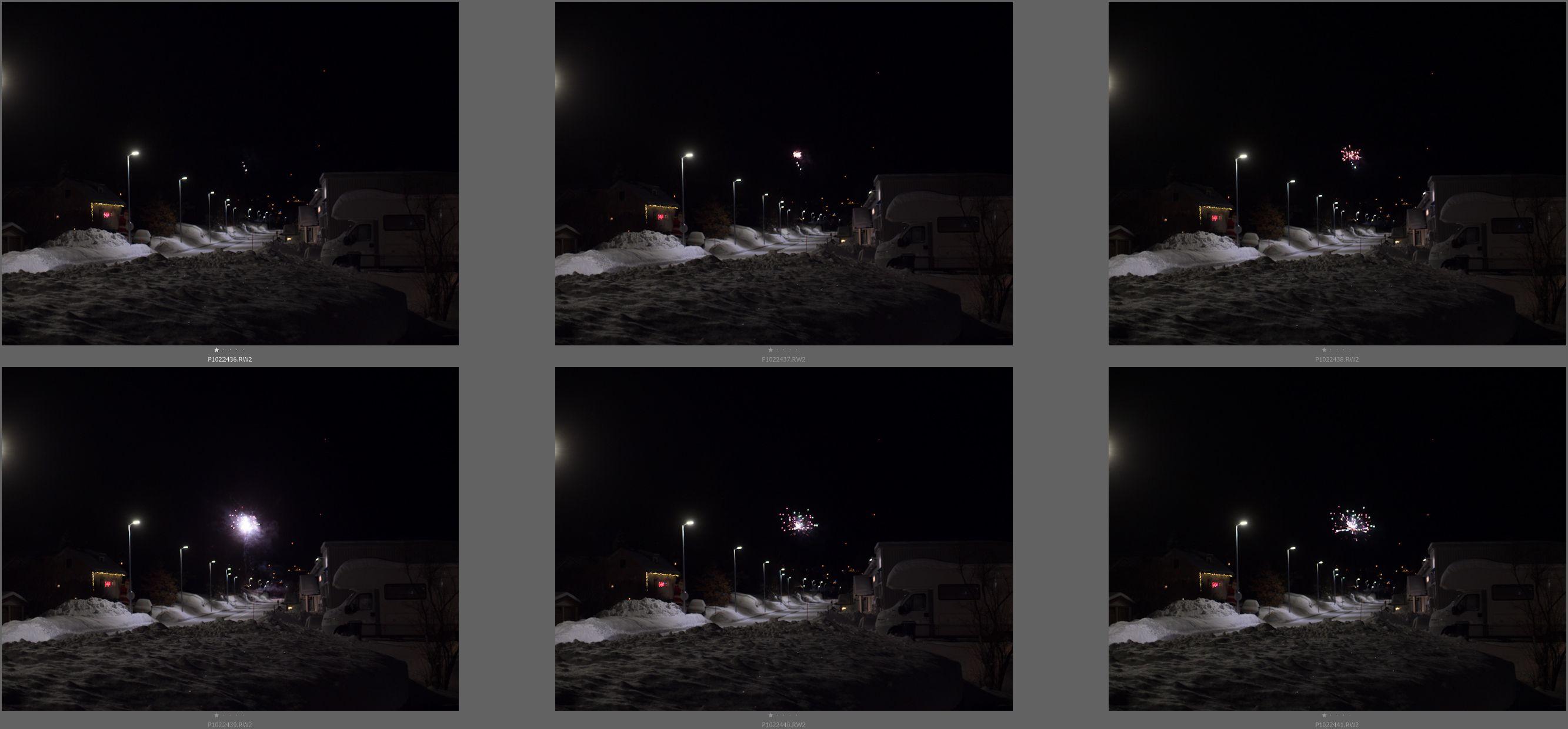 Pre Capture lar deg ta bilder av hendelser etter de har hendt. På en måte. Her demonstrert med nyttårsraketter.
