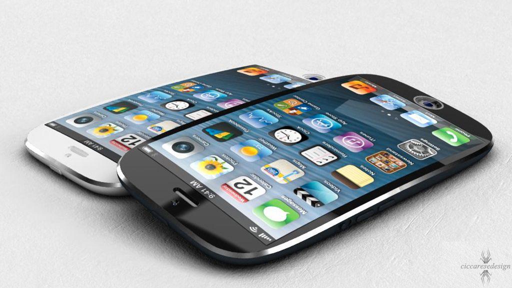 Det hevdes at nye iPhone vil bli langt rundere i kantene enn dagens. Det spørs likevel om den vil bli fullt så avrundet som dette designforslaget.Foto: ciccaresedesign.com