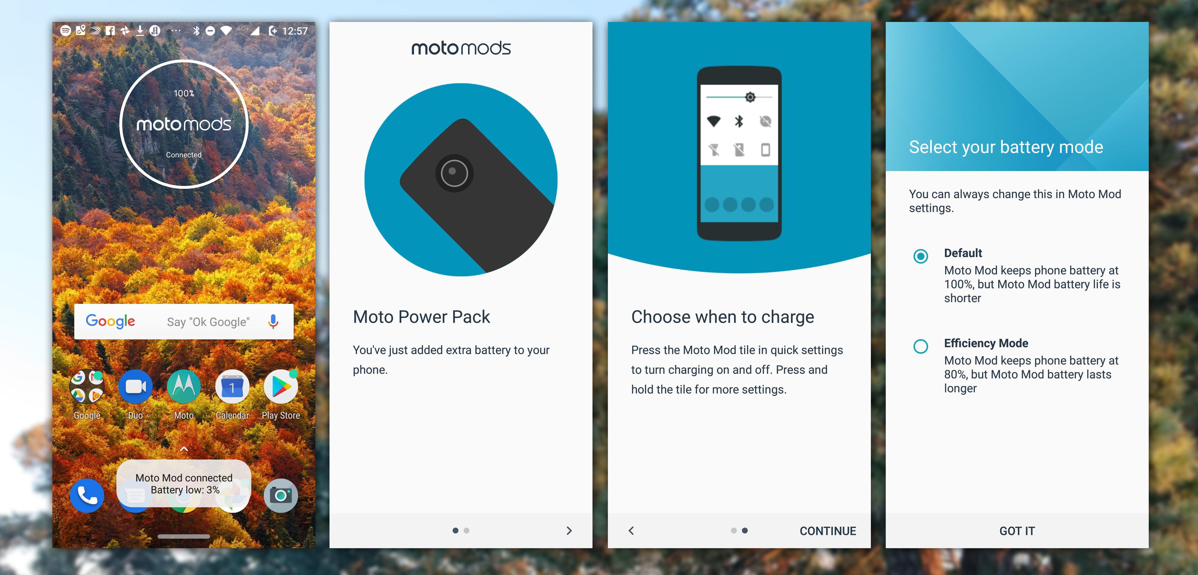 Moto Mods er godt integrert i systemet.