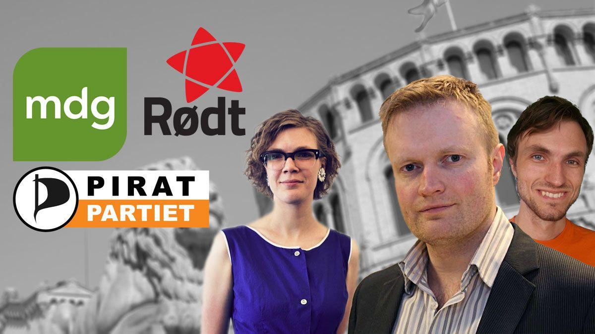 Rødt, Piratpartiet og MDG