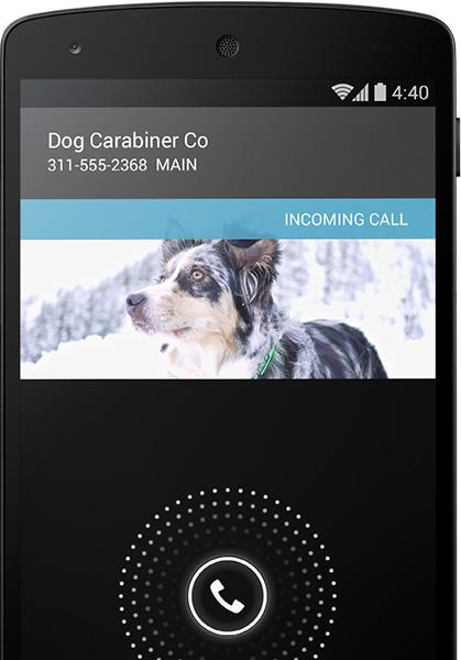 Android 4.4 kan søke opp nummer du ikke har i kontaktlisten, slik at du likevel ser hvem som ringer.Foto: Google