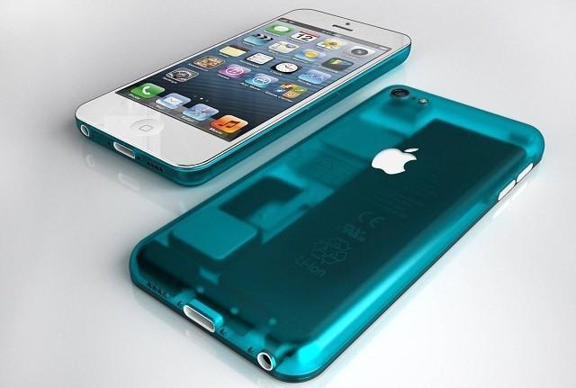 En konseptskisse som viser hvordan en billigmodell av iPhone kan komme til å se ut.Foto: Nickolay Lamm