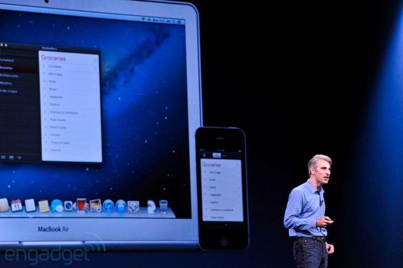 Flere av applikasjonene som dukker opp i Mountain Lion finnes også i iOS.Foto: Engadget