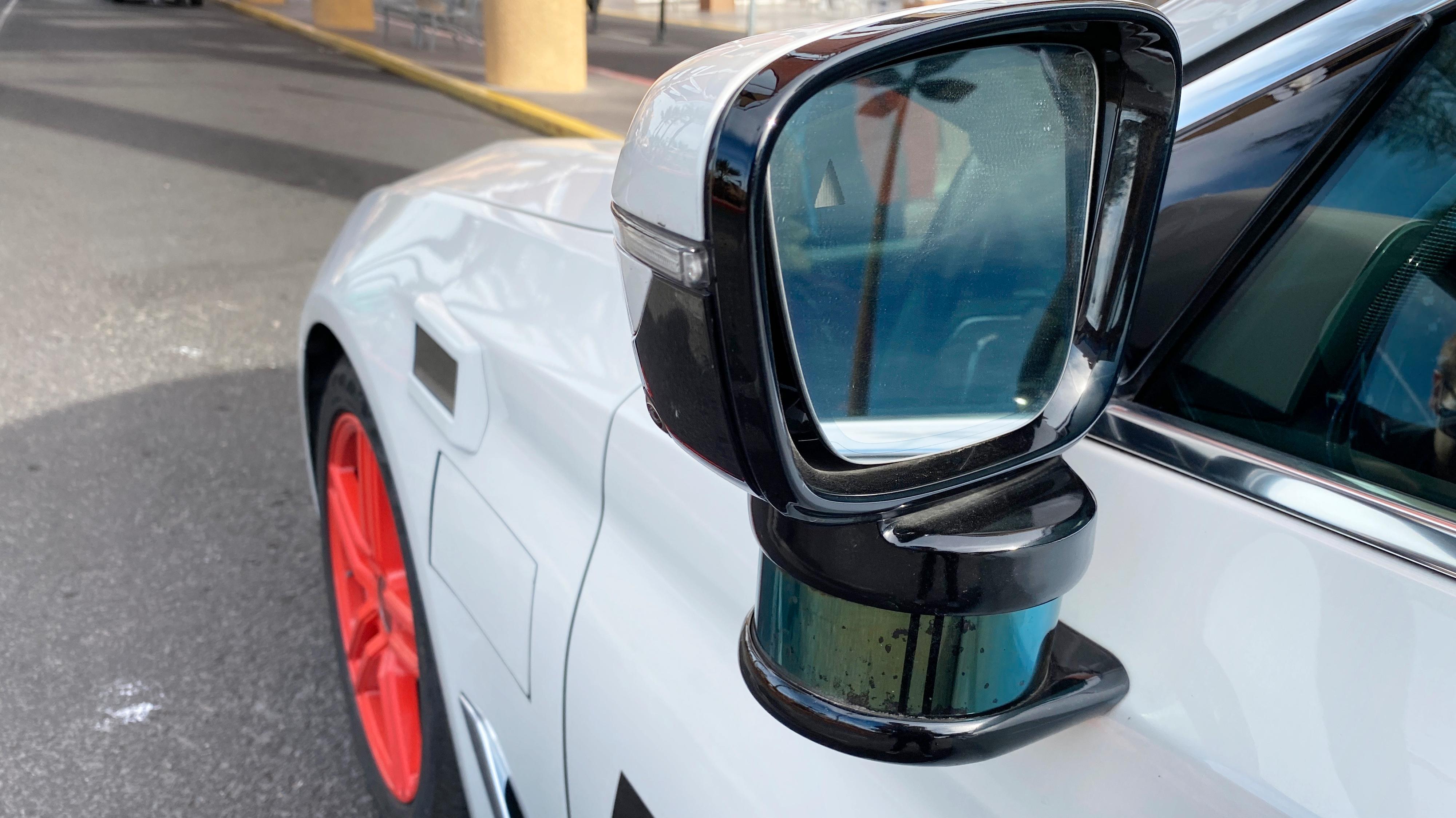 En typisk lidar, her på Aptiv og Lyfts selvkjørende demonstrasjonsbiler i Las Vegas. Ofte sitter disse som en liten sylinder oppå bilen.