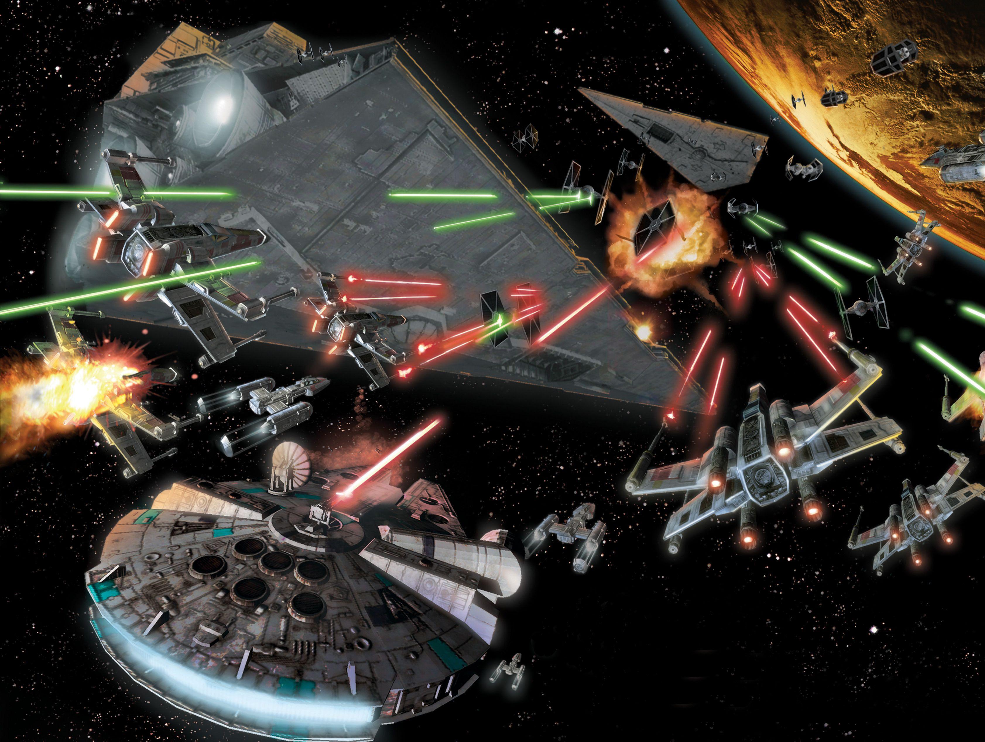 Det blir kanskje ikke helt slike tilstander enda, men laser er kult uansett. Foto: Star Wars Wikia