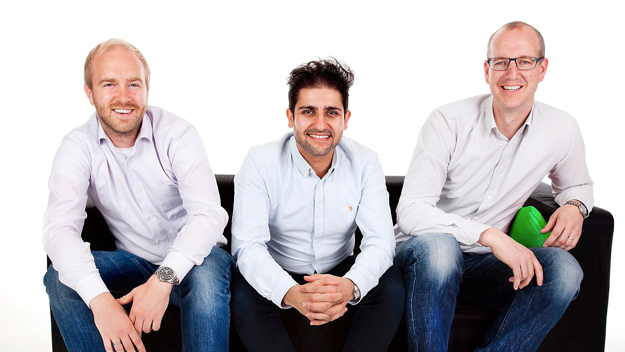 SOCOs gründere. Fra venstre Kenneth Stensrud Olsen, Keyhan Farahaninia og Marius Mæle.Foto: SOCO