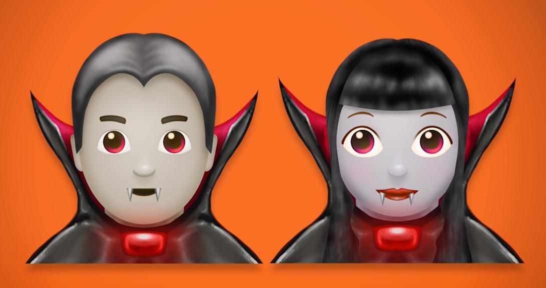Nesten alle nye emojier, fra vampyrer til feer kommer som han- og hunkjønn.