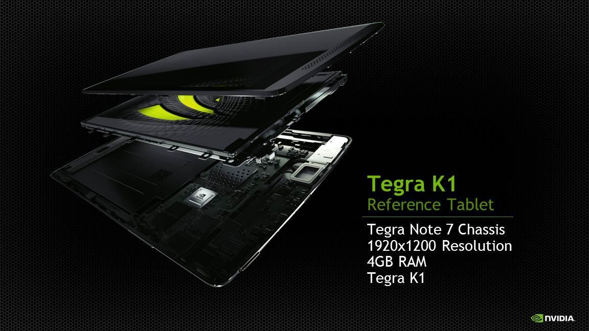 Nvidia har laget et referansenettbrett basert på Tegra K1.Foto: Nvidia