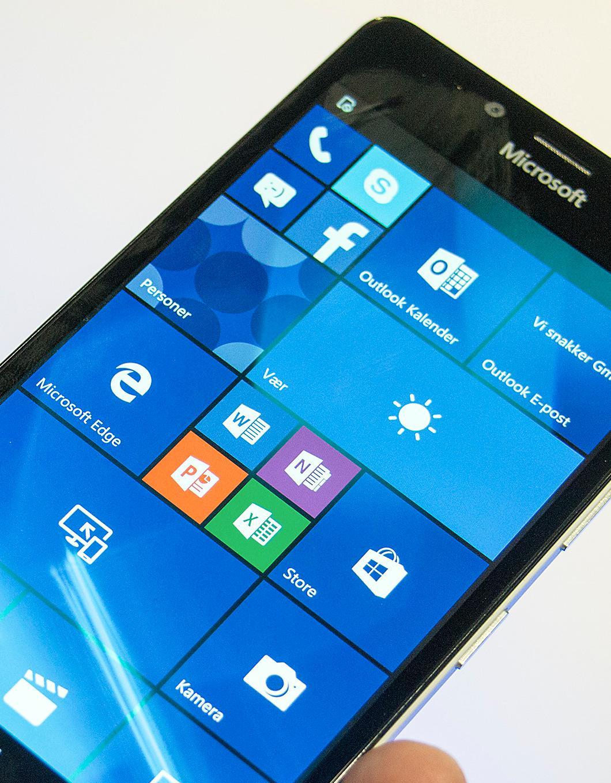 Slik ser Windows 10 ut på Lumia 950. Foto: Kurt Lekanger, Tek.no